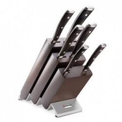 Ceppo con 6 coltelli