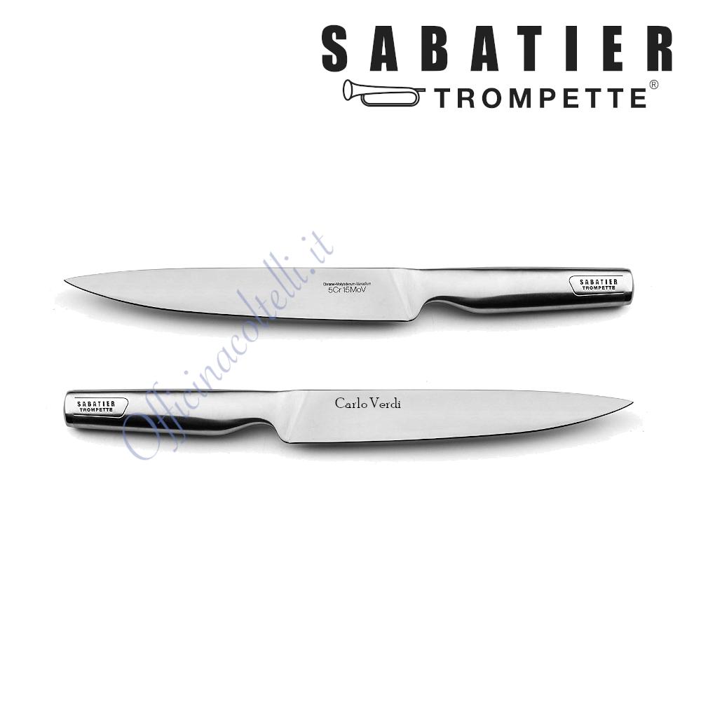 Coltello trinciante stretto flessibile personalizzato Sabatier Trompette Asean Richardson Sheffileld