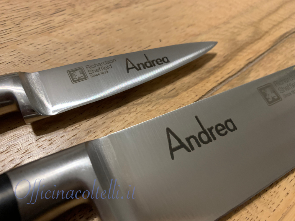 coltelli personalizzati richardson sheffield v sabatier incisione laser