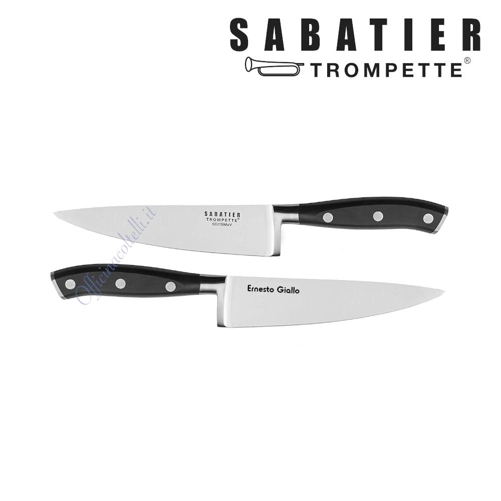 Esempio incisione personalizzata su Coltello Chef Sabatier Trompette Vulcano