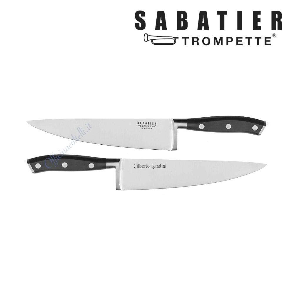 Esempio personalizzazione su coltello Sabatier Trompette Vulcano