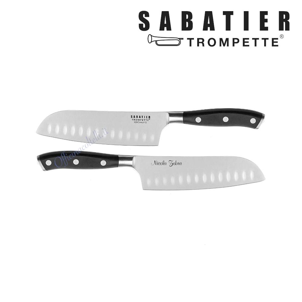 Esempio personalizzazione Santoku Sabatier Trompette Vulcano