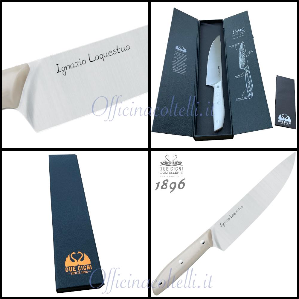 Particolari del coltello da Cuoco 1896 White Due Cigni