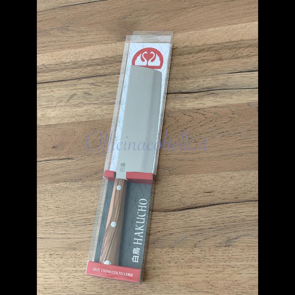 Foto confezione Coltello Usuba Hakucho Due Cigni lama 18,5 cm