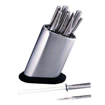 Ceppo liscio con 11 coltelli G8311/KB/PL