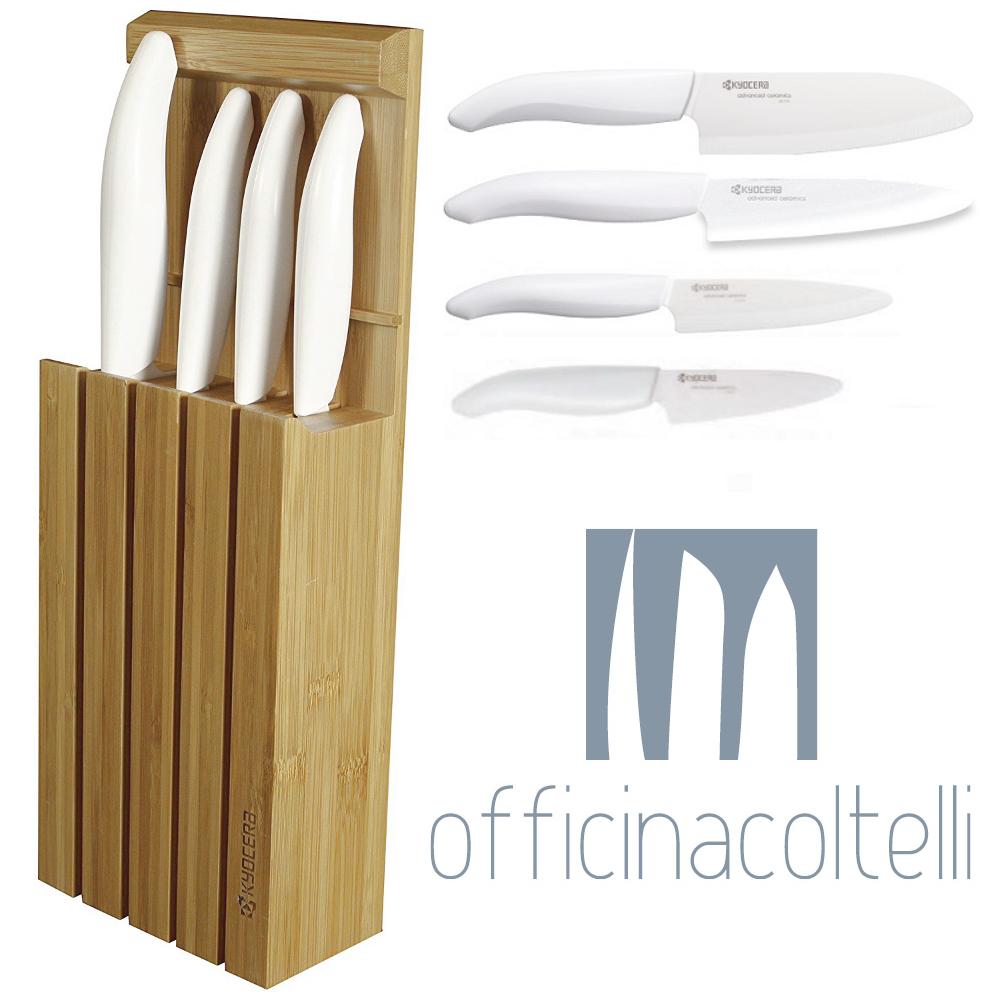 Blocco in bambù con 4 coltelli KYOFINE02