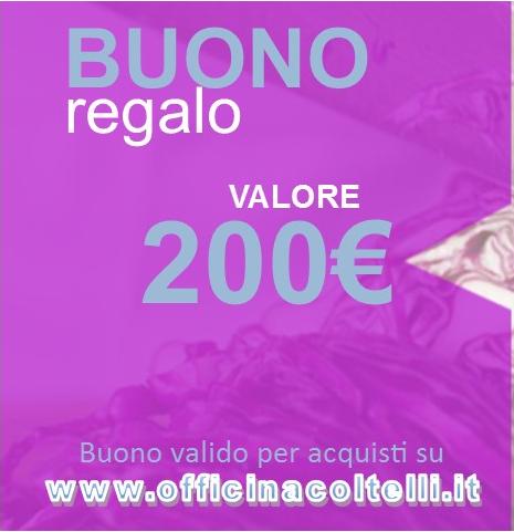 Buono Regalo - Gift Card 200 €