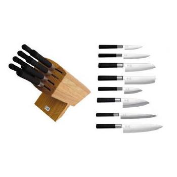 Ceppo + 8 coltelli Kai Wasabi Black, WA6799