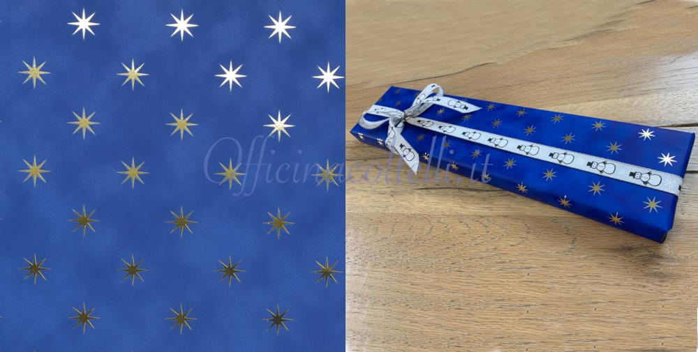 carta da regalo stelle oro reflex per coltelli da cucina