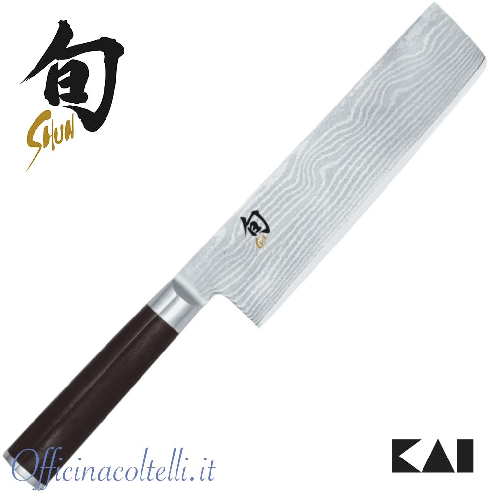 Coltello Kai Shun Damascus nakiri, 16,5 cm