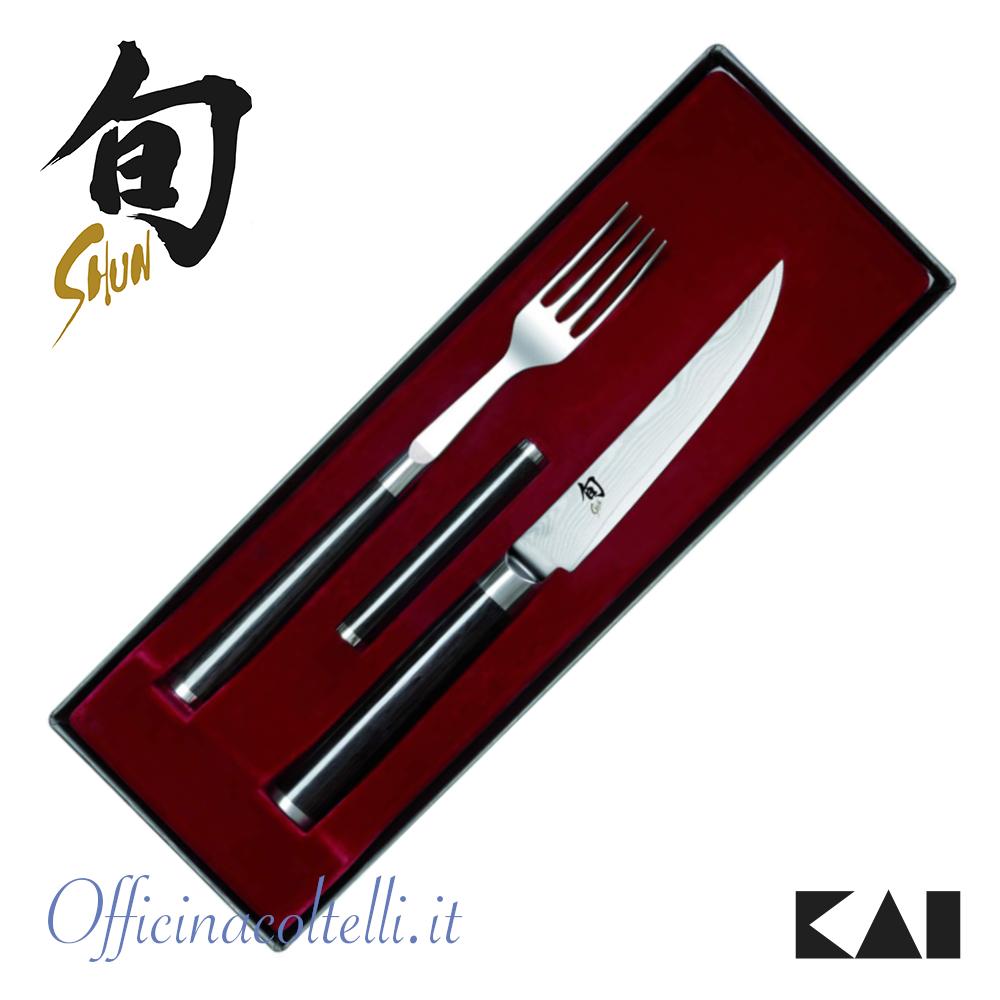 Set posate Kai, forchetta + coltello bistecca