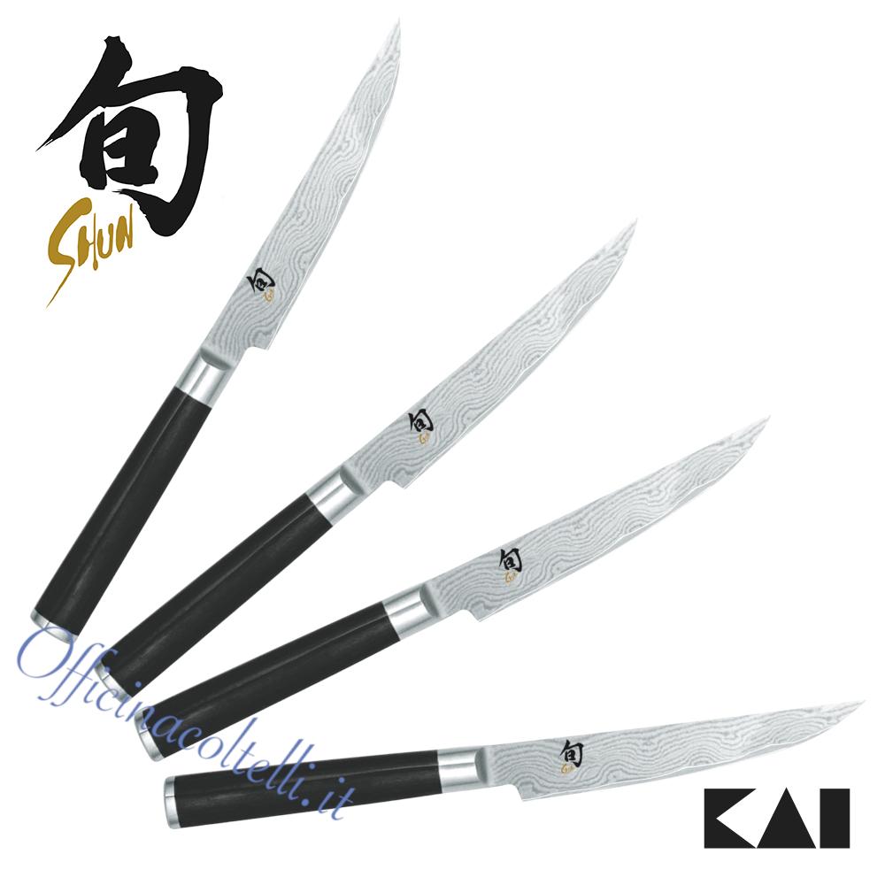 Coltello Kai Shun Damascus DM-0711, set 4pz  DMS-400