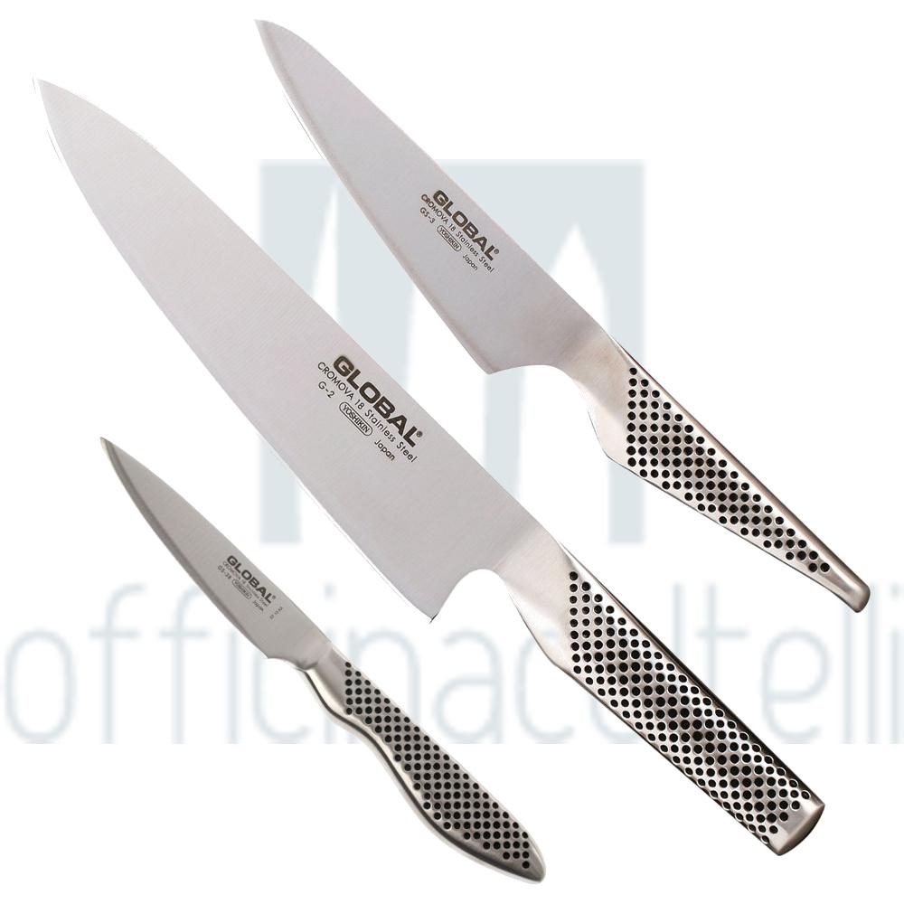 Set coltelli chef global - Coltelli da cucina professionali global ...
