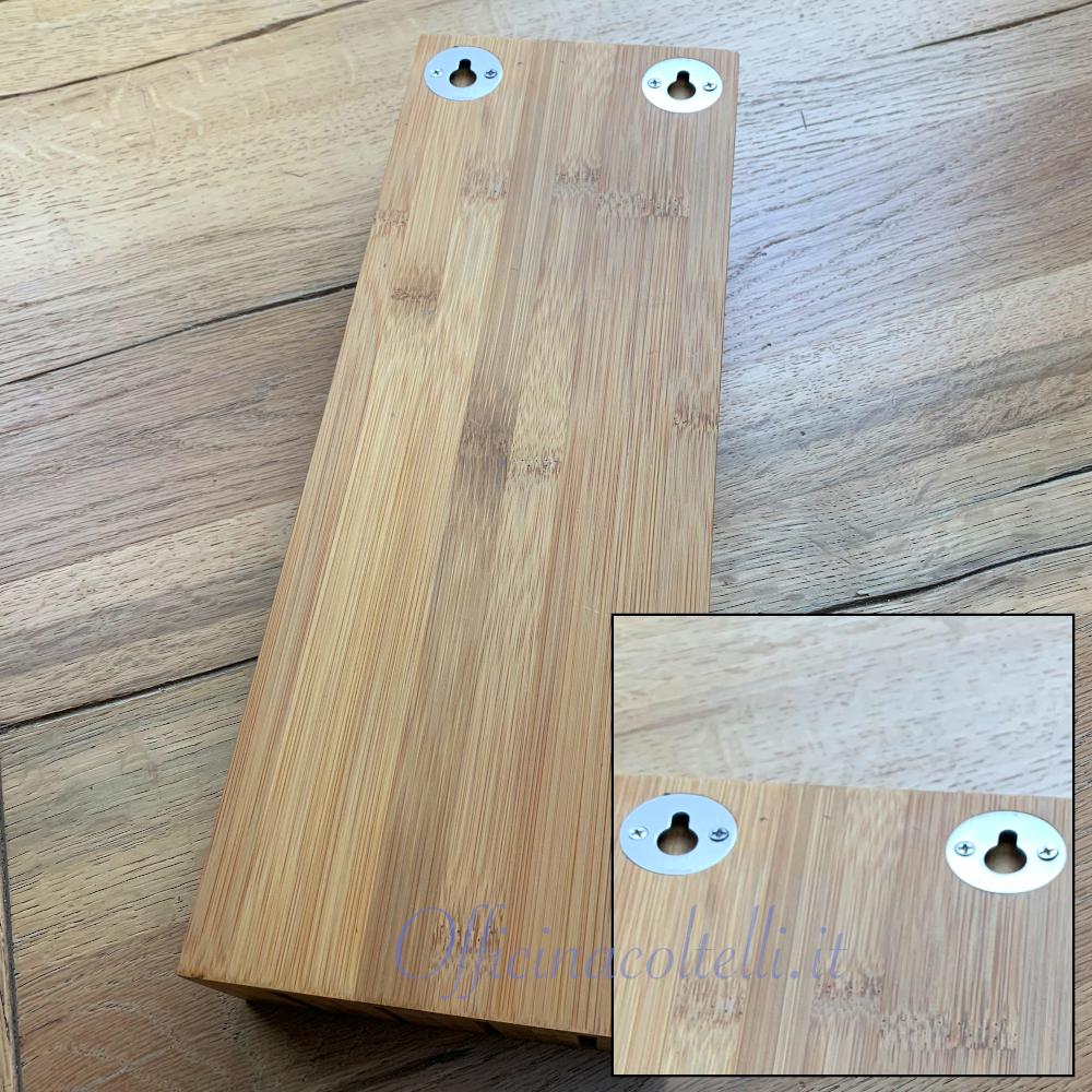 Retro ceppo per 4 coltelli in bamboo Kyocera