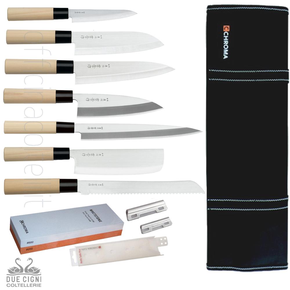 Set completo coltelli giapponesi 2 Cigni OFFERTA €.290,00