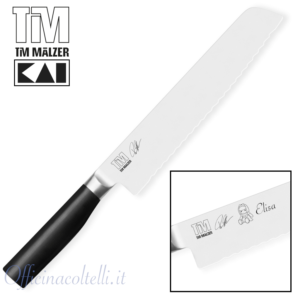 Coltello da pane 23 cm + Incisione laser
